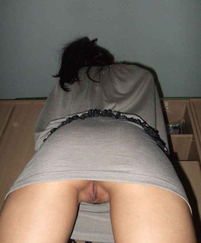 One drunk chick upskirt no panties